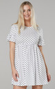 Women's Smock Sundress in White with Dots by Chelsea Clark