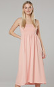 Women's Off-the-Shoulder & Tie back Sundress in Apricot by Chelsea Clark