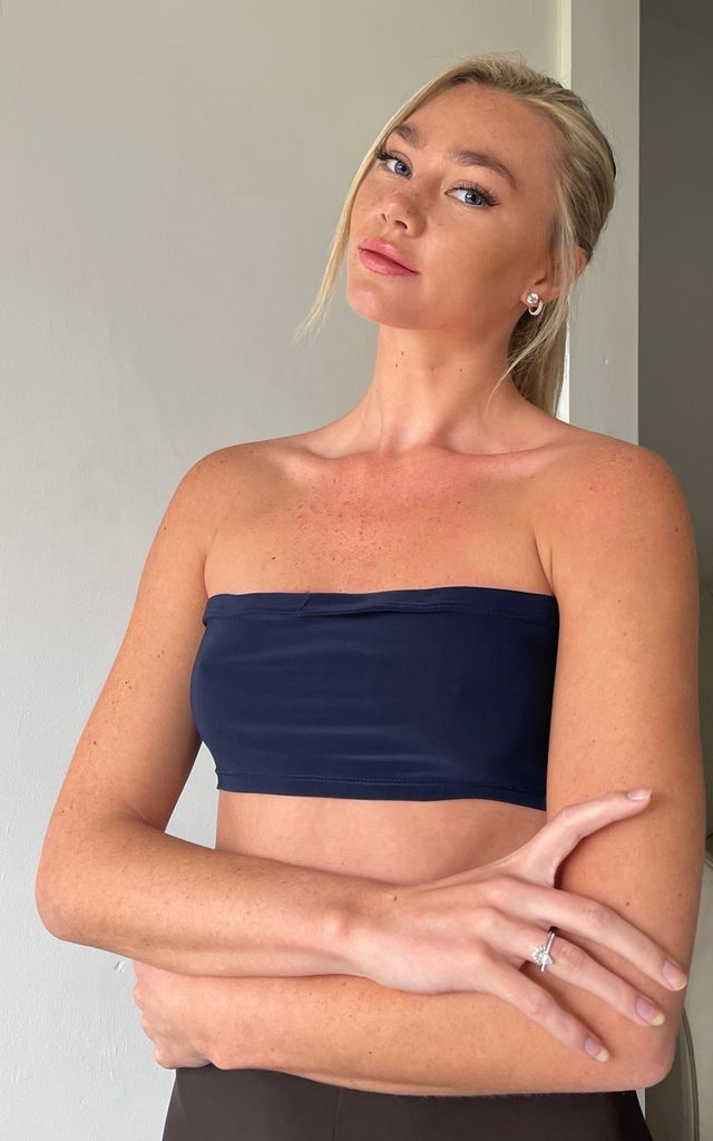 Naked Navy Stretch Bandeau by MS CAMPBELL