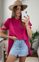 Oversize Summer Top/Tunic in Pink colour by Jenerique