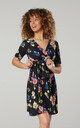 Women's Mini Sundress in Black Flower by Chelsea Clark