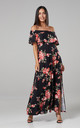 Women's Maxi Beach Dress in Black by Chelsea Clark