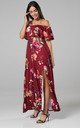 Women's Maxi Beach Dress in Red by Chelsea Clark