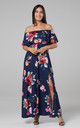 Women's Maxi Beach Dress in Navy by Chelsea Clark