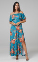 Women's Maxi Beach Dress in Blue by Chelsea Clark