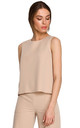 Short Sleeveless Top in Beige by MOE