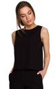 Short Sleeveless Top in Black by MOE