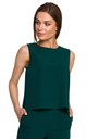Short Sleeveless Top in Green by MOE