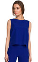 Short Sleeveless Top in Blue by MOE