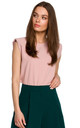 Sleeveless Top with Padded Shoulders in Pink by MOE