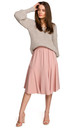 Midi Skirt with Ruffle in Pink by MOE
