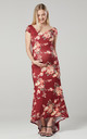Women's Maternity Photoshoot Mermaid Maxi Dress in Red by Chelsea Clark