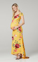 Women's Maternity Photoshoot Mermaid Maxi Dress in Yellow by Chelsea Clark