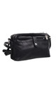 VINTAGE MULTI COMPARTMENT CROSS BODY BAG BLACK by BESSIE LONDON