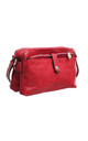 VINTAGE MULTI COMPARTMENT CROSS BODY BAG RED by BESSIE LONDON