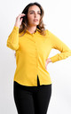 Mustard Long Sleeve Button Up Blouse by Boutique Store