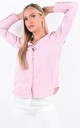 Pink Long Sleeve Button Up Blouse by Boutique Store