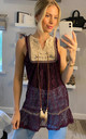 Crochet vest top in purple color by CY Boutique
