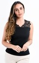 Black Cutwork Embroidered Sleeveless Top by Boutique Store