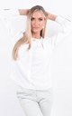 White Long Sleeve Pleated Blouse by Boutique Store