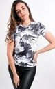 Black Graphic Printed T-Shirt by Boutique Store
