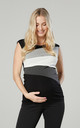 Maternity Breastfeeding Double Layer Top in Grey by Chelsea Clark