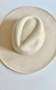 Classic large brim fedora hat in Ivory cream by Kate Coleman