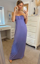Bandeau Strapless Jersey Maxi Dress in Purple by CY Boutique