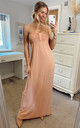 Bandeau Strapless Jersey Maxi Dress in Nude by CY Boutique
